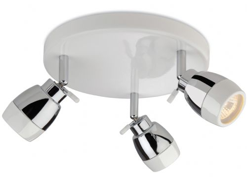 Firstlight 8203WH White with Chrome Marine 3 Light Flush